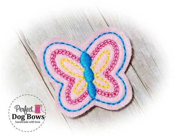 Butterfly Dog Bow - Top Knot Butterfly - Butterfly Puppy Bow - Spring Dog Bows