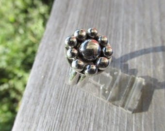 Cluster ring sterling silver