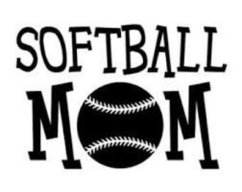 Softball mom vinyl decal, sports, softball