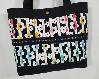 Retro Daisy Flower Power Bags by April purse tote bag