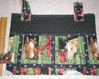Christmas Wreaths and Horses Holiday Print Walker Bag