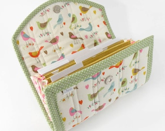 COUPON / EXPENSE / RECEIPT Organizer - Little Birdsx - Coupon Organizer Coupon Holder Cash Budget Organiser