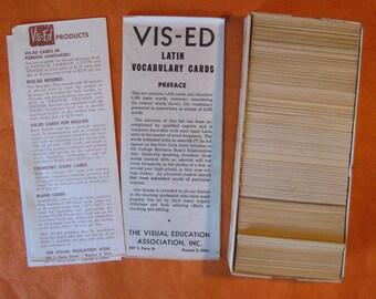 Latin Vis-Ed Vocabulary Cards