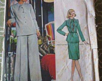 Vintage Vogue 1088 Couturier Design PERTEGAZ Misses Top, Pants and Skirt Sewing Pattern sz 16 B38