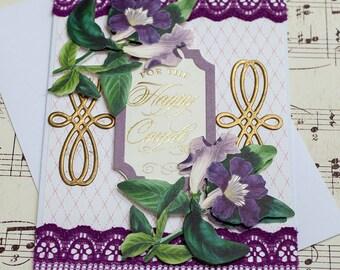 Special Occasion Card, 3D Wedding Card, Handmade Wedding Card, Anna Griffin Wedding, Floral Special Occasion, Congratulations Card