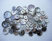 Big Lot of 50+ Various Vintage Mother of Pearl Shell Buttons