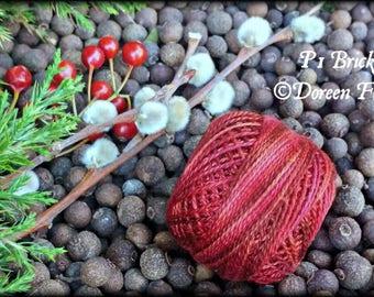 P1 Olde Brick, Valdani Perle Cotton, Size 8