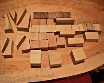 Super Deluxe  Set of Mixed Wood Blocks - 39 Pieces