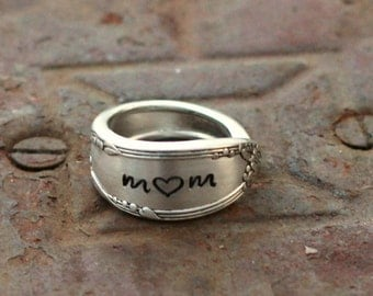 Mom Ring,Spoon Ring,Thumb Ring, Gift Idea For Mom