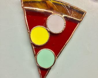 Stained glass PIZZA ornaments by Glass Action
