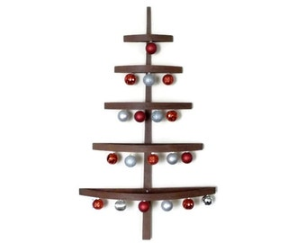Danish Modern Wood Christmas Tree   Wall Hanging   Mid Century Modern