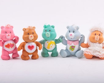 Care Bears Vintage Poseable Lot of Five - Some Playwear - Fun Kenner Toys ~The Pink Room~ 161027