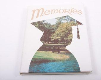 Vintage, Memories, Graduation, Autograph Book, Blank, 1970s, 70s, 1980s, 80s ~ The Pink Room ~ 161010