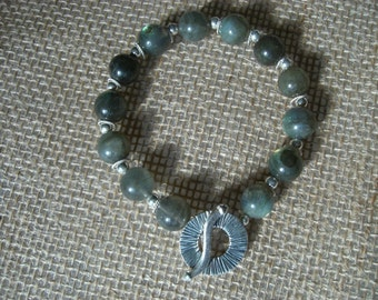Labradorite and Sterling Bracelet