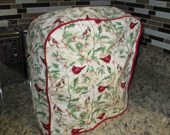 Red Cardinals and Holly Kitchenaid mixer cover for the Winter months.