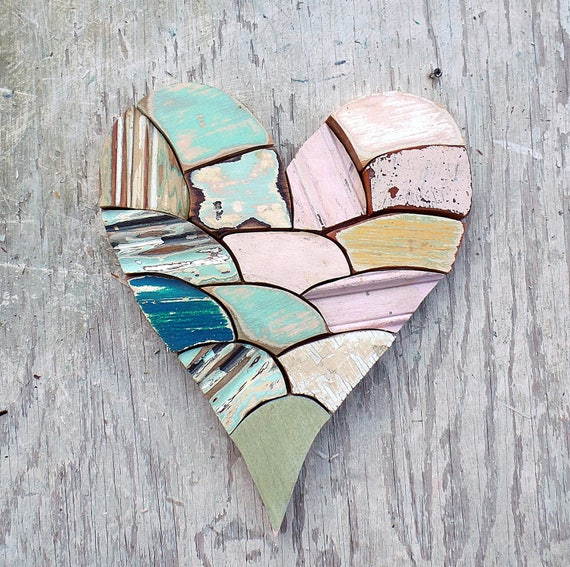 Wood wall heart wooden heart reclaimed wood heart nursery for Wooden heart wall decor