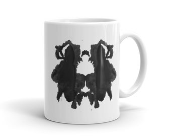 Therapist Mug Ink Blot Art Mug Inspired by the Rorschach Psychological Test 29