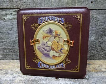 Vintage Hersheys Chocolate Tin Edition #4  Reproduction Tins 1995 For Kitchen Decor Storage Collectible