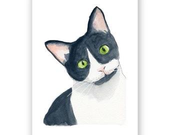 Curious Cat - 8x10 Art Print