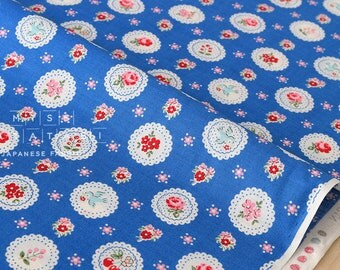 Japanese Fabric Atsuko Matsuyama Fancy Scallop  - blue - 50cm