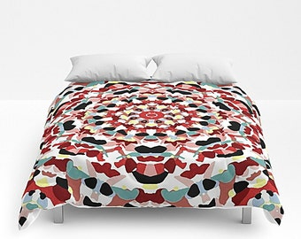 Mandala Art, Art Bedding, Bed Cover, Boho Art, Mandala Decor, Art Bed Cover, Art Bedspread, Queen Bed Cover, Queen Comforter, King Comforter
