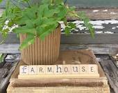 FARMHOUSE Vintage Scrabble Sign