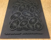 TWIST and SHOUT  Christy Friesen  Embossed  Rubber Texture Tile Mat Stamp for Clay inks Paint Soap