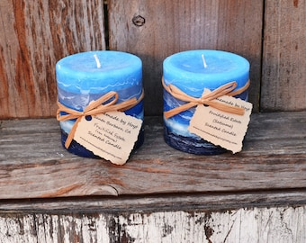 SALE: Pair of Fruitified Estate Scented Small Cylinder Candles