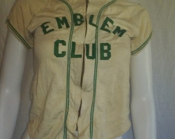 SALE Rare Vintage 50's Youth BASEBALL Team Jersey - number  2