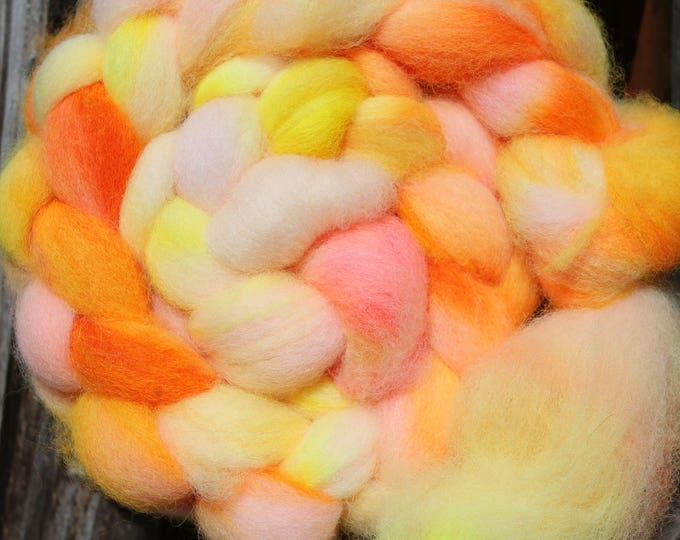 Kettle Dyed Cheviot Wool Top.  Easy to spin. 4oz  Braid. Spin. Felt. Roving. C87