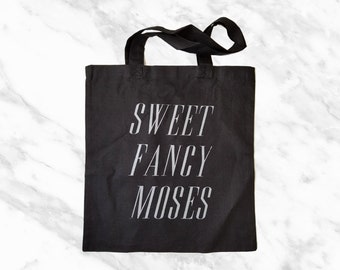 no. 641 -sweet fancy moses screen printed tote