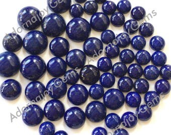 Gemstone Cabochon Lapis 8mm Round FOR ONE