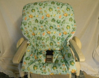 Chicco Polly High Chair Cover In Turtles And Friends