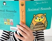 New Jane Foster's Animal Sounds pre-school baby board book  -  Scandi retro illustrations Jane Foster - can sign on request