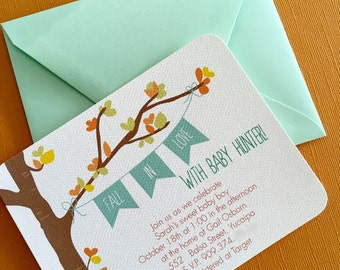 Fall In Love- invitation, set of 10