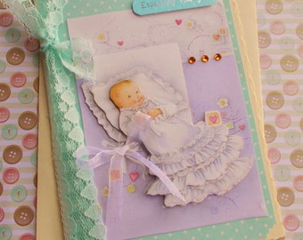 New Baby Card - Gender neutral, unisex, Mint Green, Especially for You