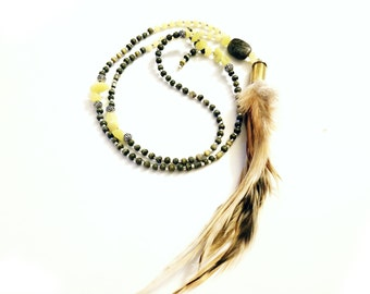 Maverick Mala Necklace - Olive & Jade