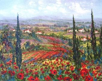 Tuscany Fields  print - 8 x 10 photo prints buy 2 get 1 free