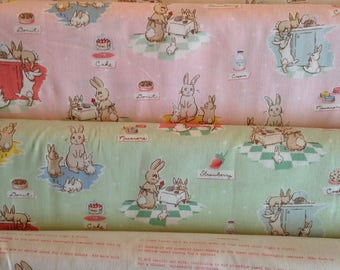 Bunnies And Cream - From Penny Rose Fabrics - By Lauren Nash - For Riley Blake - Half Yard Set - 4 Prints - 21.50 Dollars
