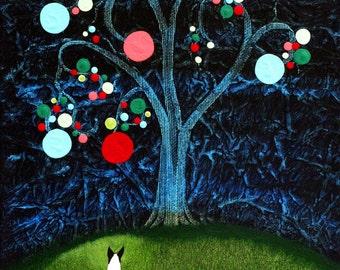 Rat Terrier dog art PRINT of Todd Young painting KLIMT TREE