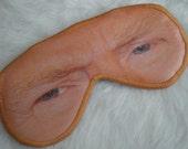 Freak Them Out Sleep Mask NACHO PREZ * FreakyOldWoman FOW blindfold eyes president cheeto yellow orange cheese donald trump frump drumphh