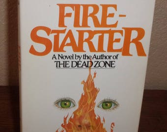 Firestarter-Stephen King-Hardcover book w/DJ-BCE-1980