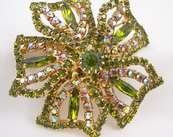 Large Rhinestone Brooch