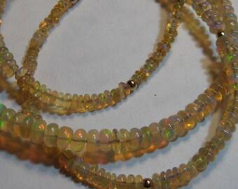Natural Ethiopian Opal Bead necklace....................      e910