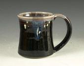 Large pottery Mug (20oz) in tenmoku black glaze - great morning coffee mugs fathers day gift