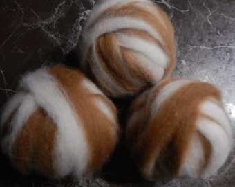 Alpaca Rovings Two Ounces of Fawn and White Blend of Baby Soft Alpaca Ready to Spin or Felt