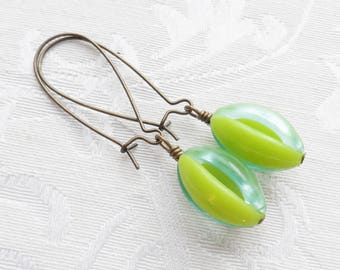 75% Off Price Sale- Melon Earrings with Vintage Beads