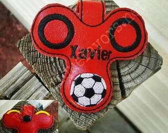 Soccer Spinner Case ~ Personalization Available Custom Spinner Carrying Case Many color combinations