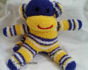 Vikas the sock monkey ready to ship
