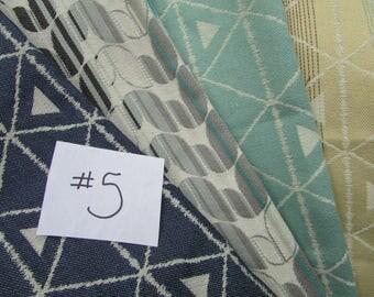Wrap Scrap Tekhni almost 2.5 yard Remnant Fabric #5 for suck pads, key fobs, headbands Laurel Kyanite, Delta Nova, Cinder, Fathom s